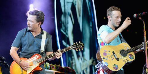 "Coldplay  e Michael J. Fox  cantano insieme ""Johnny B. Good"""